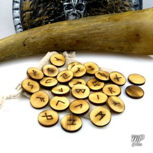 runes 20 mm bois futhark