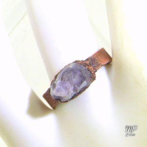 bague scylla amethyste cuivre