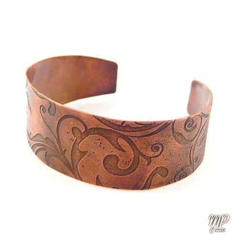 bracelet hallvor cuivre grave