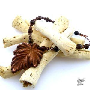 collier sedar perles en bronzite