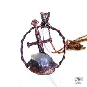 pendentif excalibur quartz fantôme