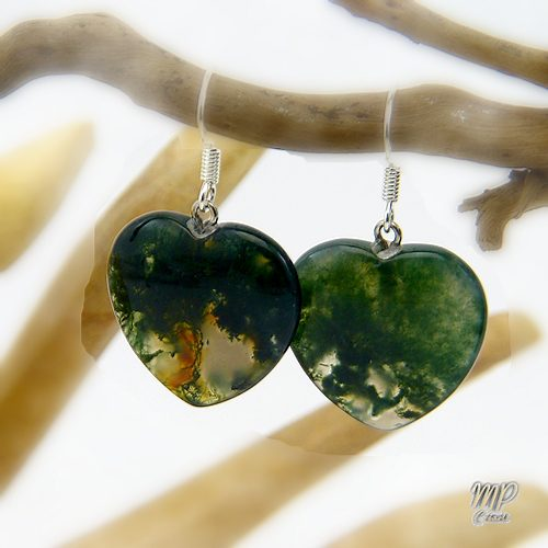 boucles d'oreille chloris agate mousse