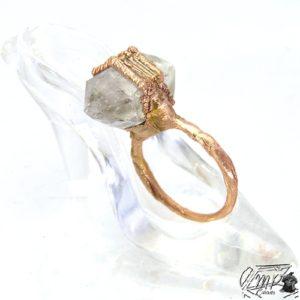bague vesta cuivre et diamant d herkimer