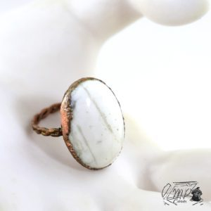 bague howlite taille 60