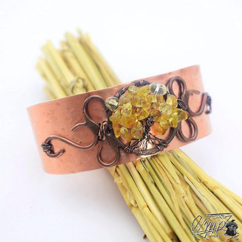 bracelet manchette arbre de vie carmel