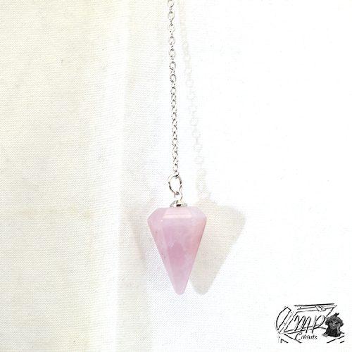 Petite pendule en quartz rose