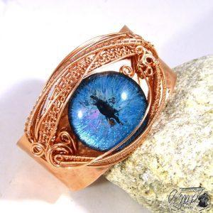 bracelet manchette oeil de dragon