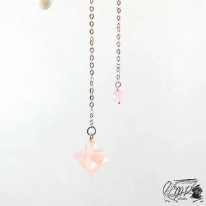 pendule merkaba quartz rose