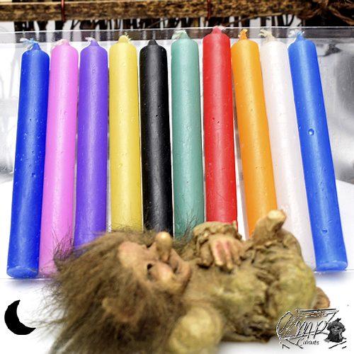bougies de rituel , lot de 10