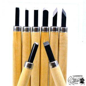 lot de 8 outils pour sculpter