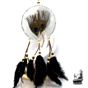 dreamcatcher sahale avec plumes de paon