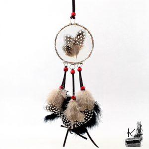 attrape-rêve saba plumes sous verre