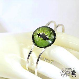 Bracelet oeil de dragon vert Hywin