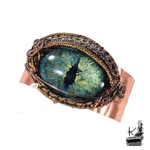 bracelet manchette oeil de dragon Kalo