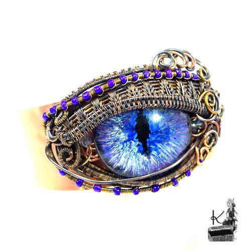 bracelet manchette efrim oeil de dragon