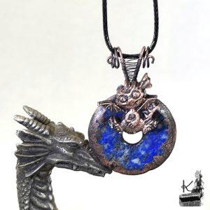 pendentif en lapis lazuli Glasfeu