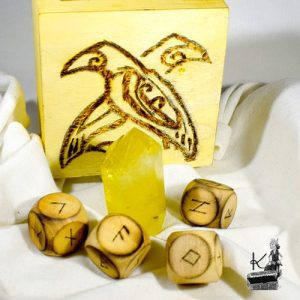 Tresor-Box avec dés runiques et citrine