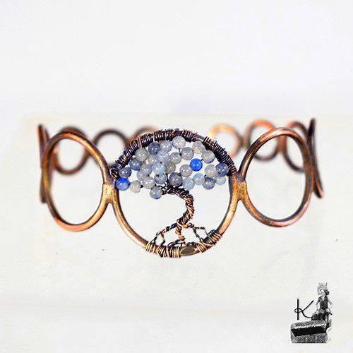 bracelet abre de vie medis avec aigue-marine