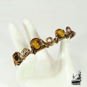 bracelet oko cuivre et oeil de tigre