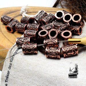 Perles de barbe et de cheveux cuivrés