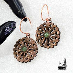 boucles d'oreille Paton avec aventurine