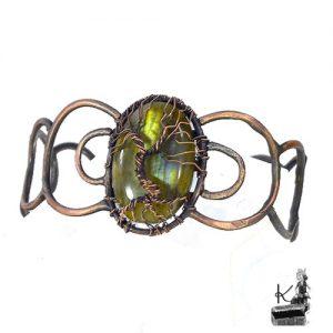 Bracelet berwas arbre de vie sur labradorite