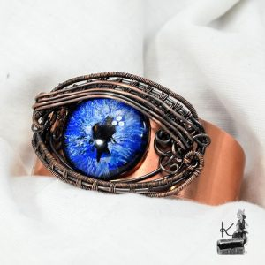 bracelet manchette wistala en cuivre naturel