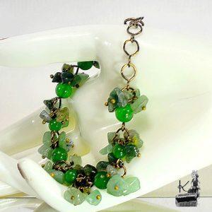 Bracelet Freon en jade, aventurine et agate mousse