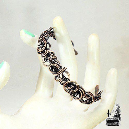bracelet glynis en cuivre naturel patiné