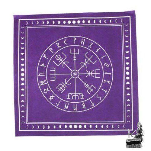 nappe pour tarot futhark violette