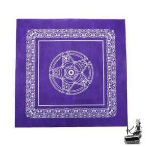 nappe pour tarot violette pentacle