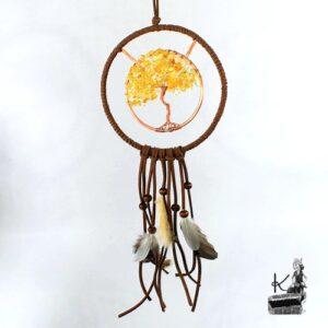 Dreamcatcher Brucie avec arbre de vie en citrine