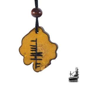Amulette ogham Laoch en bois