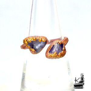 bague ajustable Hywel en améthyste et cuivre