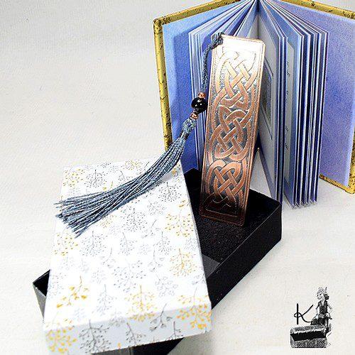 boite cadeau feuille pour marque pages