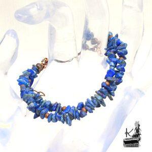 Bracelet hellory en cuivre avec lapis lazuli