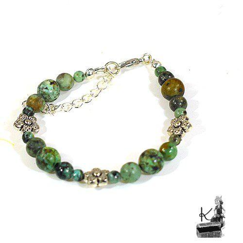 Bracelet Elatha avec de la turquoise africaine