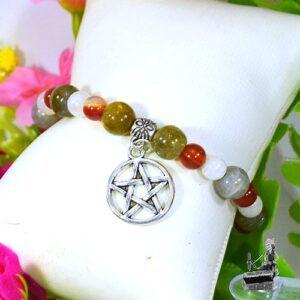 bracelet isaia pour apporter séréninté avec pierre de lune, cornaline et labradorite