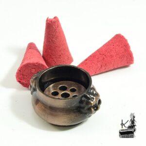 Mini brûleur d'encens en cuivre