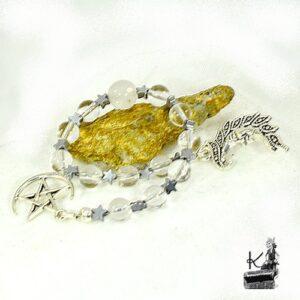 Perles de priere en cristal et pierre de lune phases lunaires