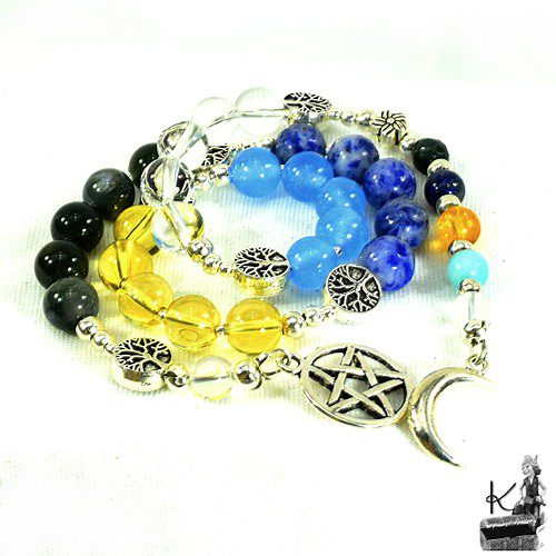 Perles de prière - païen - wicca pour les 5 éléments sacrés