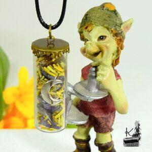 Amulette Isabeau combinant super seven et romarin