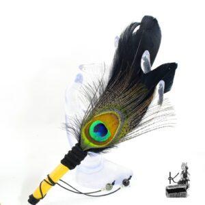 Eventail de fumigation Tadi en plume d'oie et de paon