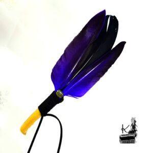 Plume de fumigation Kanda noir et violet avec labradorite